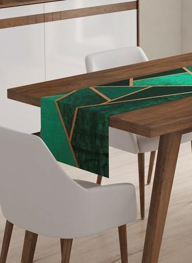 Lyn Home & Decor Runner Geometrik Yeşil Renkli